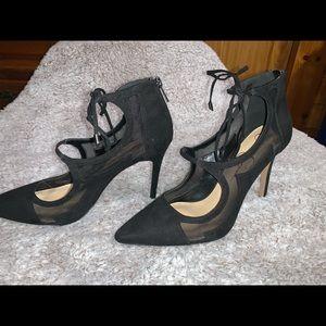 Jessica Simpson Black Mesh Stiletto